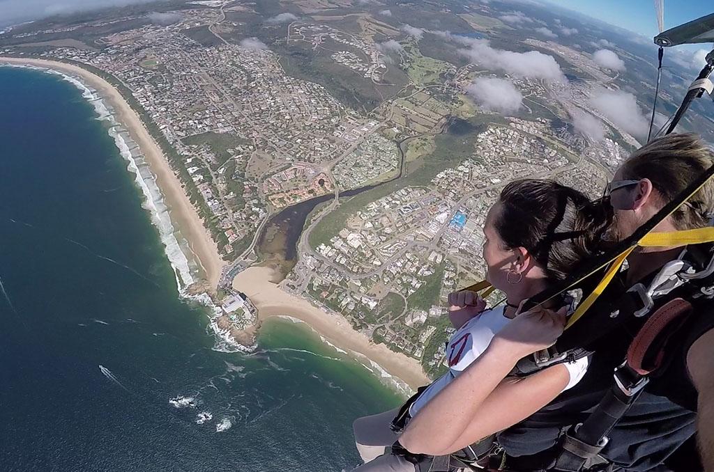 parachute springen camera